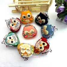 "Cute Owl Clutch Coin Bag Change Purse Wallet 3.5x3.5""(8 different colors)SNA052"