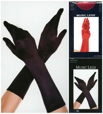 Long Exotic Dancer Gloves Burlesque Evening Satin Elbow Black or Red MU 426