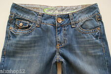NEU EDC BY ESPRIT JEANS BOOTCUT WASHED-USED-JEANS DAMEN PLAY FIT