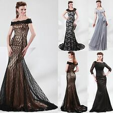 4 Choices! Vintage Lace Wedding Cocktail Womens Gowns Prom Long Party Dresses