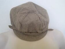 GAP Women's Brown Houndstooth Plaid Newsboy Hat Size S/M,M/L NWT