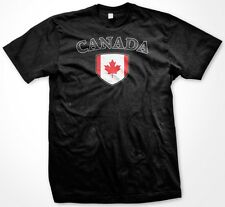 Canada Country Crest Flag Colors Nationality Ethnic Pride -Mens T-shirt
