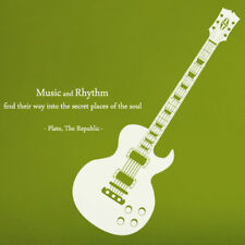 M10 Guitar Sticker_Music Quote DIY Wall Art Decal For Musicians +Tracking No.