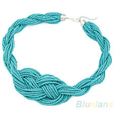 Hot Womens Handcraft Bohemian Style Handmade Knotted Simple Beads Necklace B84U