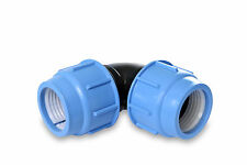 MDPE Plastic  Compression Fitting Elbow Various Sizes for Water Pipe 20mm - 50mm
