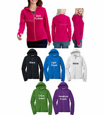 Ladies Micro Fleece Hooded Jacket Hoodie with Thumbhole Option Womens  XS-4XL