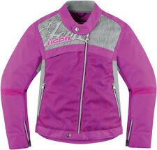 New womens Icon Hella 2 textile pink armored motorcycle jacket coat