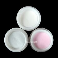 3x All Clear Pink White Polymer Nail Art Acrylic Powder 3 Color Polymer Powder