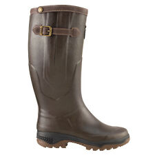 AIGLE PARCOURS 2 SIGNATURE WELLINGTON WELLIE BOOT NATURAL RUBBER HUNTING FISHING
