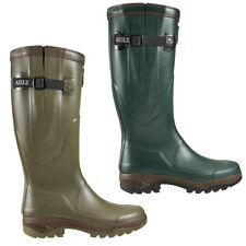 AIGLE PARCOURS 2 ISO WELLINGTON WELLIES ADJUSTABLE CALF STRAP NATURAL RUBBER