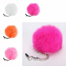 3.5mm Fur Ball Cell phone Anti-Dust Ear Cap Plug For Apple iPhone Samsung Amazon