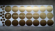 "33 POLKA DOT  3"" & 1"" VINYL ART WALL STICKER DECOR ART REMOVABLE B-95"