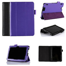 "Genuine Leather Folio Stand Smart Case Cover For Kindle Fire HDX 7"" inch Tablet"