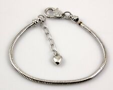 10pcs 18KGP Plated Snake Chain Heat Charm Bracelets Fit European Bead L17