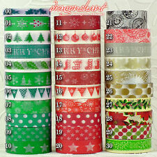 Christmas Washi Tape Paper Masking Sticky Adhesive Roll Craft Decorative Trim