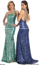 NEW FULLY SEQUINED DRESS SEXY EVENING PROM GOWN SISTER of BRIDE SPECIAL OCCASION