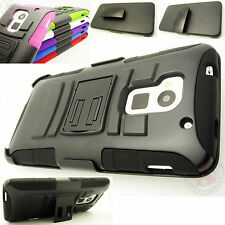 For HTC One MAX HYBRID Combo Belt Clip Holster KICK STAND Case Phone Cover