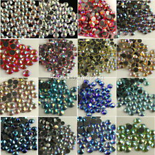 144/1440Pcs ss16 4mm Quality Czech Crystal Rhinestone Flatback Hotfix AB Color