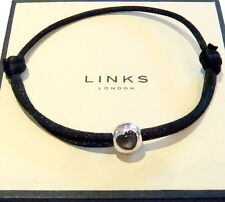 (NEW) Genuine Links of London Silver Bead Silver Friendship Bracelet BNIB