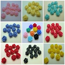 Wholesale Beautiful Cabochon Resin Rose Flower Spacer Beads 10mm/12mm/15mm