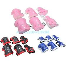 A#S0 Kids Cycling Roller Skating Knee Elbow Wrist Guard Protective Pad 3 Colors