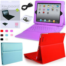 For Apple iPad 2/3/4 Leather Wireless Bluetooth Keyboard Case Cover With Stand