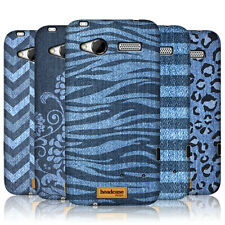 HEAD CASE PRINTED DENIM PROTECTIVE SNAP-ON HARD BACK CASE COVER FOR HTC RADAR