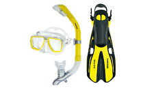 Head Tarpon/Barracuda Volo Mask Snorkel Fins Set Scuba Diving Snorkeling Yellow