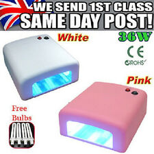 Pink/White UV Gel Nail Art Lamp Dryer Manicure Light Shellac Gelish Curing Timer
