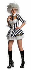 Beetlejuice Secret Wishes Adult Womens Sexy Cute Halloween Fancy Dress Costume,