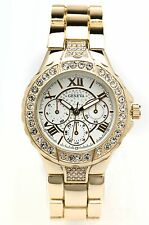 GENEVA Women's Iced Out Crystal Decorative Chronograph Rhinestone-accented Watch
