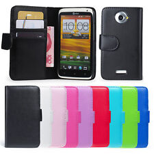 Wallet style book flip case cover for HTC One X + screen protector & cloth