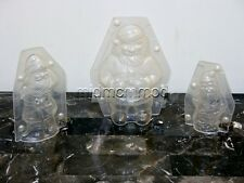 Professional Polycarbonate 3D Chocolate Mold ~SANTA Mould LARGE 3sizes MadeInUSA