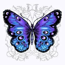 Blue and Purple Butterfly T Shirt  You Choose Style, Size, Color up to 4XL 20098
