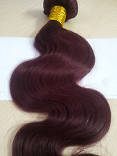 Brazilian Human Hair Extensions Burgundy RED WINE 99J# Body Wave 8''-30''100g/pc