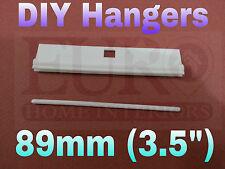"DIY 89mm (3.5"") Vertical Blind  Slat / louvers adjustable HANGERS/WHITE /REPAIRS"