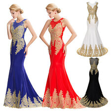 2014 Long Wedding Bridesmaid Ball Gown Dress Chiffon Formal Evening Prom Dresses