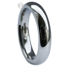 6mm 925 Hallmarked Solid Sterling Silver Court Comfort Wedding Band Ring I-Z3