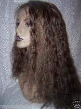 100% Indian Human Hair Remi Remy Full Lace Wig Wigs #2/27 Deep Wave Wavy