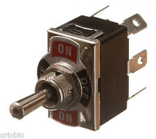toggle switch DPDT On/ Centre Off /On with Legend plate