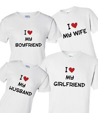 I Love My Husband Wife, Printed T-Shirt, 100% Cotton, Valentine's Day Gift Idea