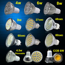 UK STOCK 4/ 6/ 8W LED SMD Spot Light Bulbs High Power GU10/MR16 Day/ Warm White