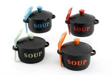 Soup Bowl Set -  One Soup bowl with spoon and lid,available in four colours