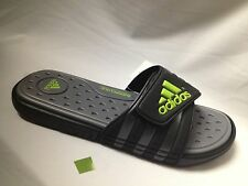 adidas Adissage SC slide sandal flip flop-US men size-Black/grey/lime-F32913-NIB