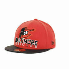 Baltimore Orioles MLB Vintage Throwback New Era Fitted Flat Bill 2-Tone Hat Cap