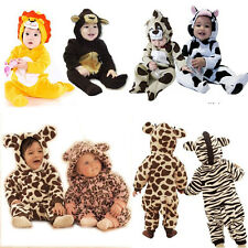Baby Boys Girls Fancy Romper Fleece Animal Play suit Outfit Spring Fall Costume