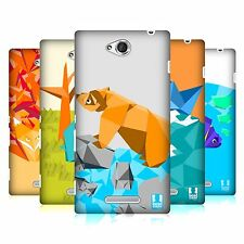 HEAD CASE DESIGNS ORIGAMI CASE COVER FOR SONY XPERIA C C2305
