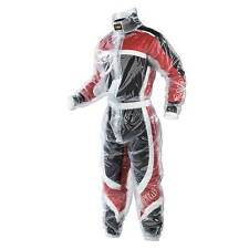 OMP Kart/Karting/Go Kart Transparent Rainsuit (Rain Suit)