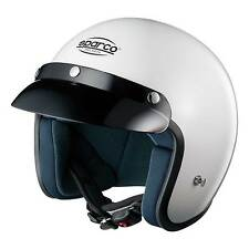 Sparco Club J1 - ECE Approved Open Face Race/Track Day Helmet In White