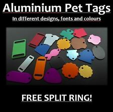 Aluminium Tags for Pets, With Personalised Engraving, Dog, Cat, Pet, Collar Tag!